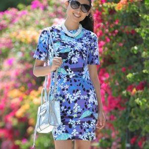Petter Pilotto Target Bodycon Floral Dress Size S